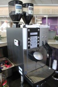 <p>The Loft invested in a coffee machine that brews and mixes the order for the barista. The machine was installed for the January opening and aims to create consistency in the drinks. The manager of The Loft said she believes that the cost of the machine was around $1,000. (Anastasia Straley/TommieMedia) </p>