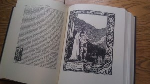 """<p>The library holds an extensive collection of Folio books. With some retrofitting, the O'Shaughnessy Room will provide a perfect environment for the collection to display books like """"King Arthur."""" (Alex Goering/TommieMedia)</p>"""