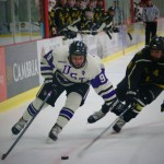 St. Thomas took on St. Olaf Saturday night at the St. Thomas Ice Arena in Mendota Heights. The Tommies also played St. Olaf Friday at the Northfield Ice Arena and won 6-1. (Meghan Vosbeek/TommieMedia)