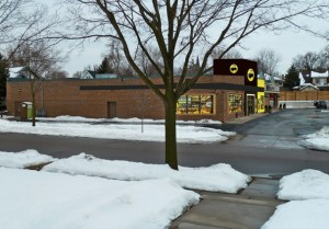 "<p>Neighborhood resident Brian Quarstad created a virtual Buffalo Wild Wings to give community members an idea of what the final product will  look like. Quarstad said the mock-up isn't exact, but it is a pretty accurate depiction of what the restaurant chain will likely choose. The grand opening is not set, but construction is underway on 80 Snelling Avenue in the old ""Cheapo Records"" building. (Courtesy of</p>"