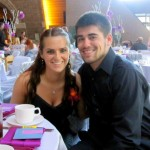 Senior Ciara Falzone and her boyfriend, David Riggs, attend her cousin's wedding in 2011. Riggs was killed by someone texting and driving in August 2013. (Courtesy of Ciara Falzone)