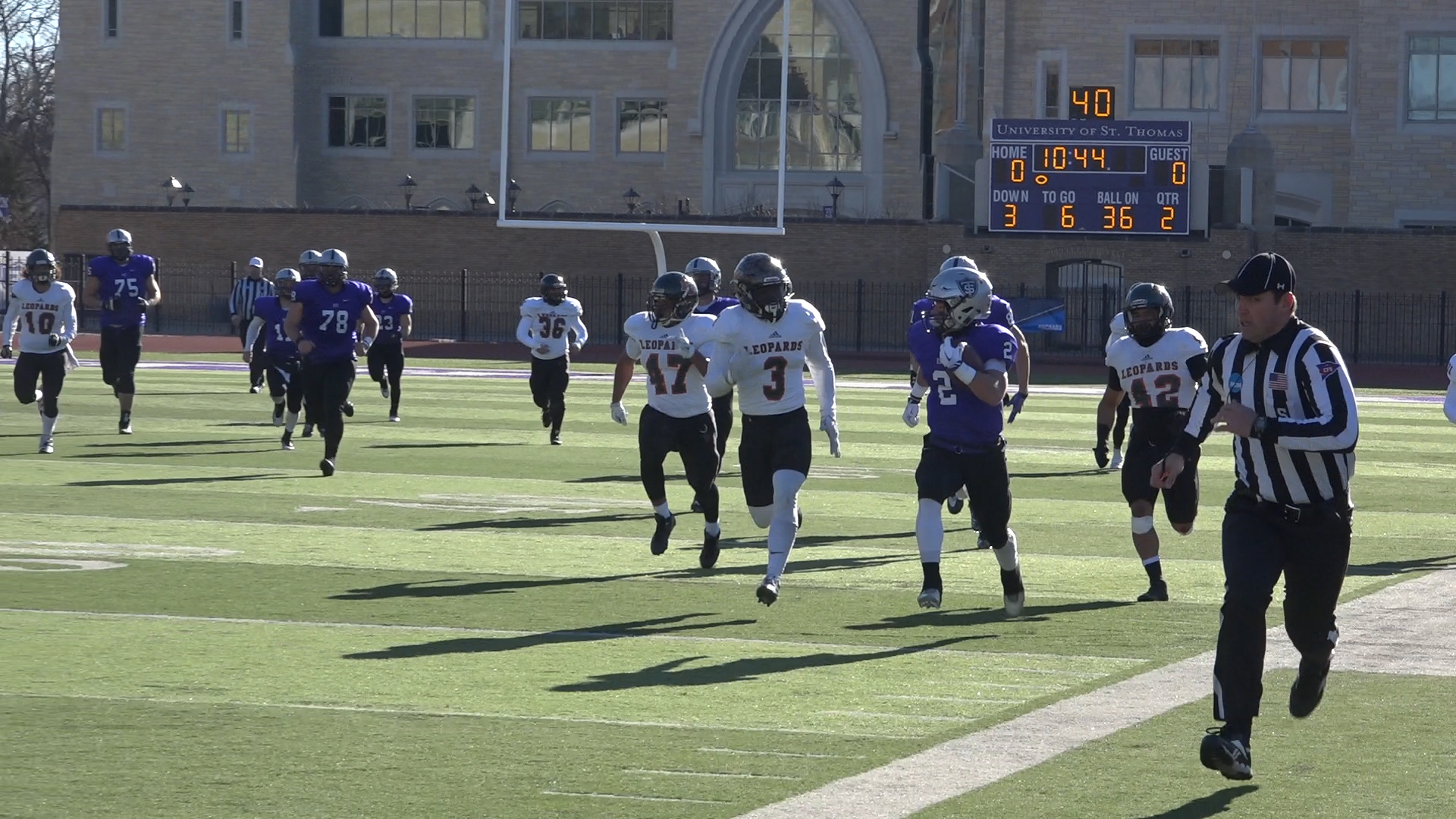 Video: Tommies win cold-weather clash