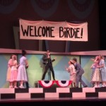 """The cast comes together during one of the musical numbers of """"Bye Bye Birdie."""" To put on the show, students put in roughly 20 hours of rehearsal each week since February. (Margaret Galush/TommieMedia)"""