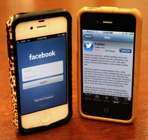 Social media websites like Facebook and Twitter are playing a major role on how students prepare for the Tommie-Johnnie game. With the help of these sites, students have organized party buses and designed apparel for the big day. (Tarkor Zehn/ TommieMedia)