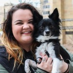 Senior Melanie Kraemer holds Link, her five-year-old Jack Russel terrier and Pomeranian mix. Link originally belonged to Kreamer's boyfriend but quickly became hers too after they started dating. (Carlee Hackl/TommieMedia)