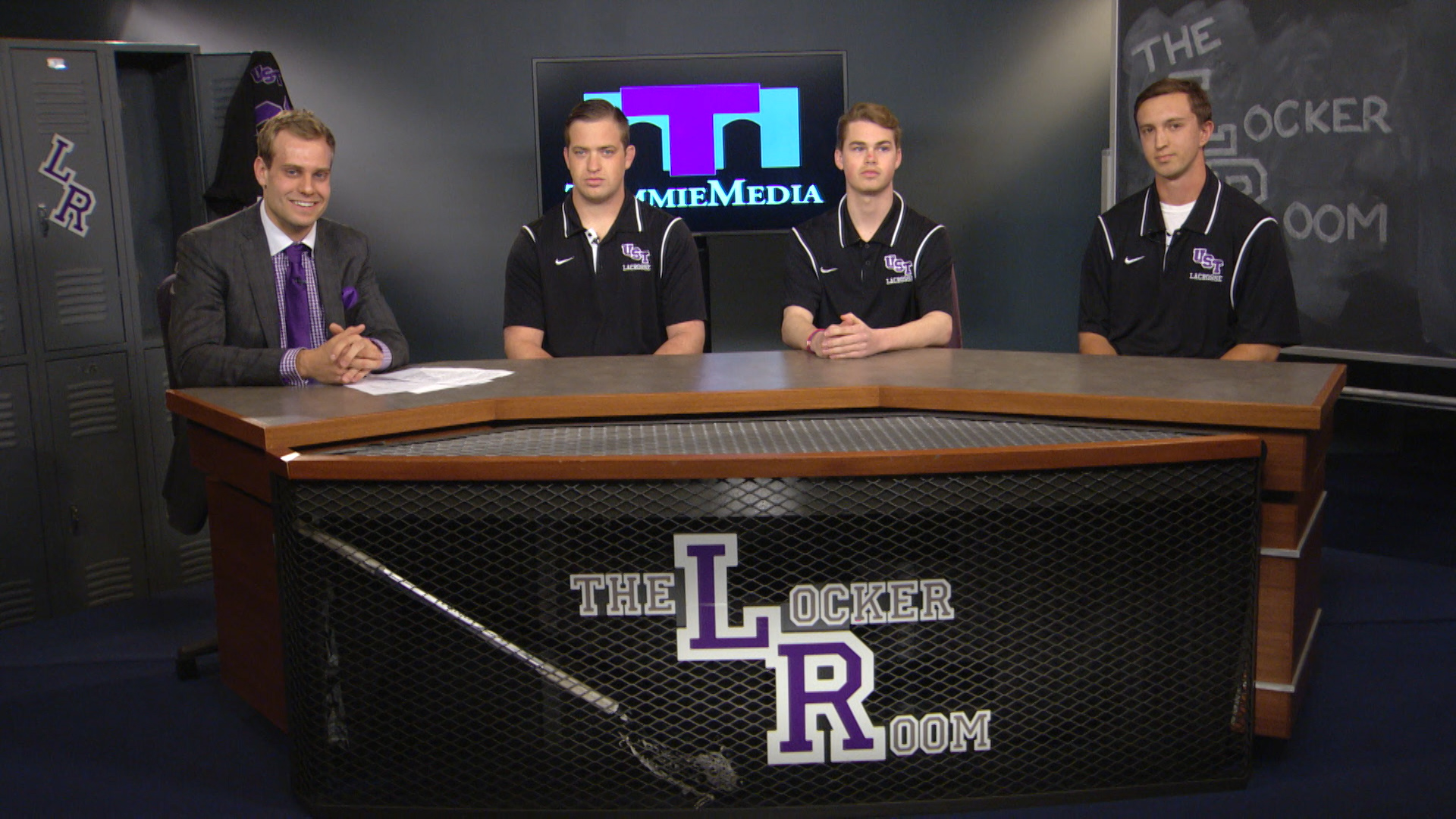 The Locker Room with men's lacrosse - April 28, 2016