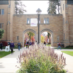 Students pass through the arches on a chilly fall day. Hopefully, by the end of this school year, many will be represented by a new dean of the College of Arts and Sciences. (Danielle Wong/TommieMedia)