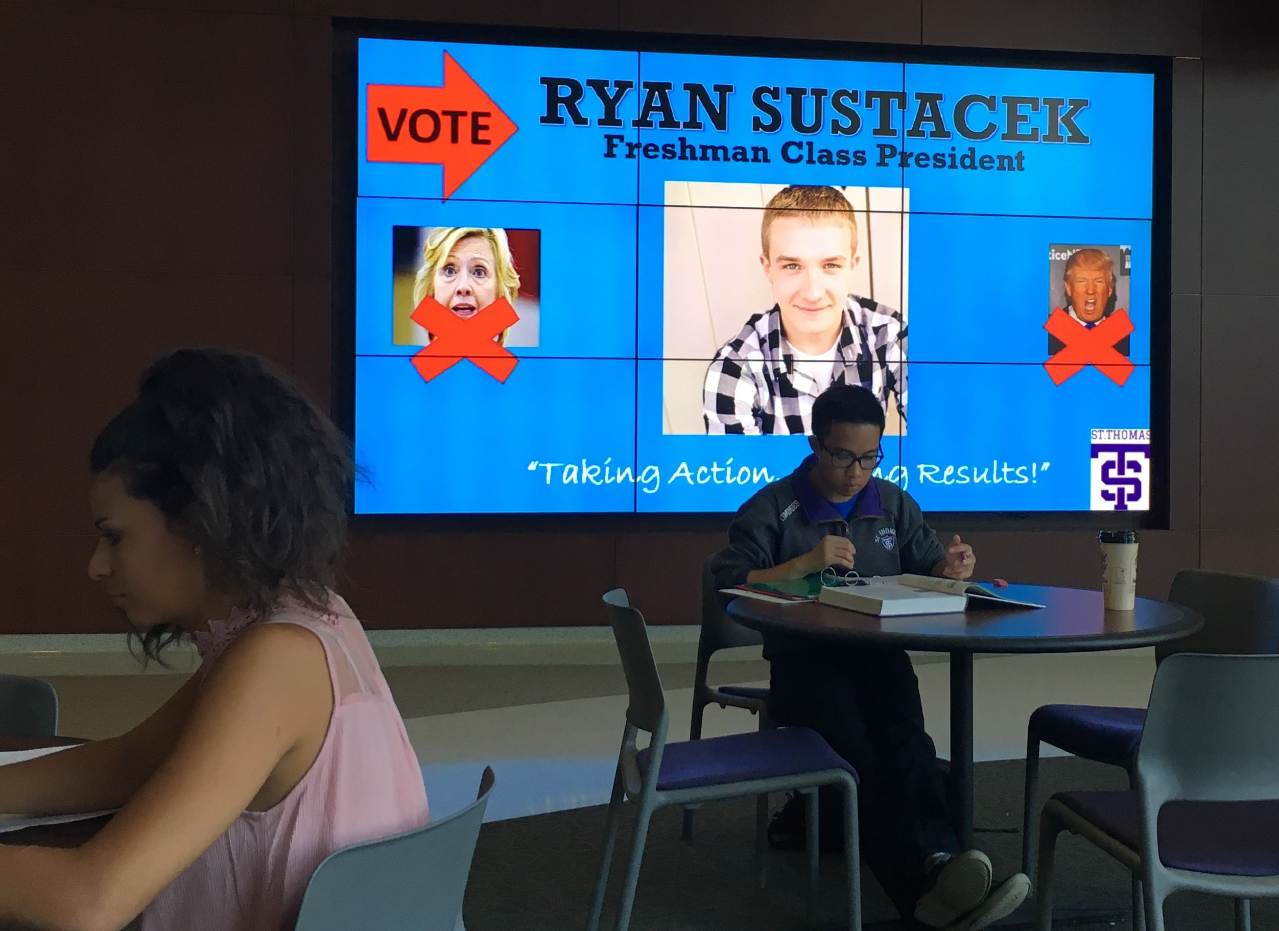 Humor based campaign leads to a win for the new freshman class president