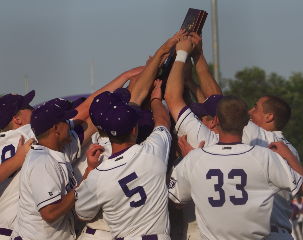 <p>The St. Thomas baseball team hopes to capture its second national championship in four years. The Tommies face the Captains in a first-round game at 4:30 p.m. Friday, May 25. (Hayley Schnell/TommieMedia)</p>