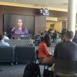 Students watch the Anti-racism Campaign for Tommies video in the Anderson Student Center over convo hour on Tuesday, May 3. ACT! features St. Thomas students speaking out against racism. (Claire Noack/TommieMedia)