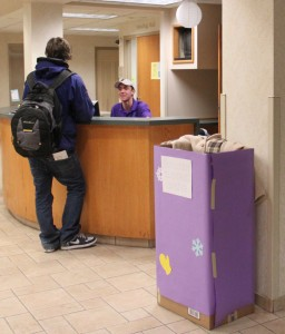 Mid Campus Residence Hall Association placed boxes on every residence hall Winter Clothes Drive for the underprivileged.