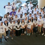 Students involved in the Linkages Mentor Program pose for a photo. The program helps underrepresented students succeed in college. (Photo courtesy of Student Diversity and Inclusion Services)