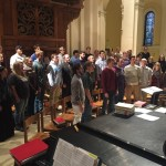 The Liturgical Choir sings during rehearsal. The choir will sing at the Midnight Mass at the Vatican (Courtesy Emily Franksen).