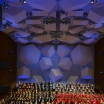 """Nine musical ensembles take the stage at Orchestra Hall for the annual St. Thomas Christmas concert. The TPT coverage of the 2015 """"A St. Thomas Christmas: A Jubilant Light"""" has been nominated for an Upper Midwest Emmy. (Mike Ekern/Director of Photography)"""