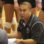 Coach Thanh Pham advises his team during the 2014  season. Pham said the Tommies' younger players will have to play bigger roles to fill in for key losses to graduation.  (Elena Neuzil/TommieMedia)