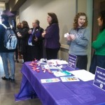 Members of the St. Thomas community participate in a celebration of the university going tobacco free.