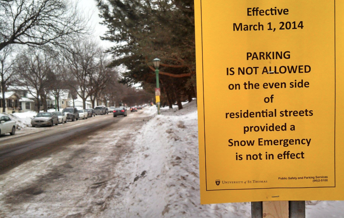Winter parking ban limits spaces for students