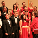 The Chamber Singers are lead by Angela Broeker during a performance in 2011. The group was one of two MIAC choirs selected to participate in the American Choral Directors Association North Central region conference in Des Moines over spring break. (Jordan Osterman/TommieMedia)