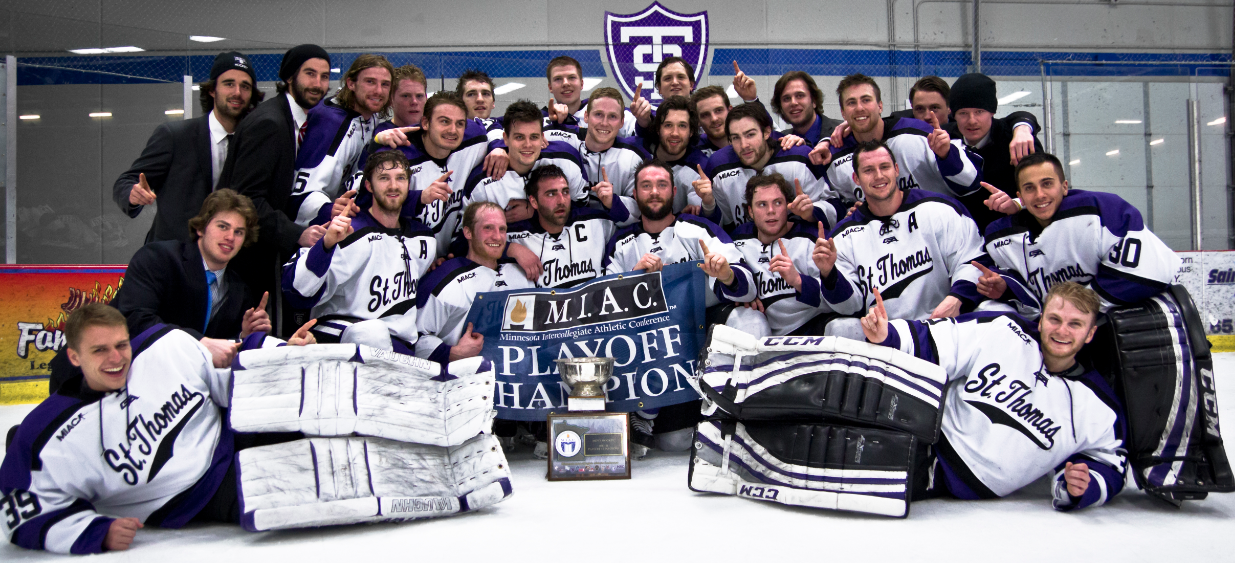 Men's hockey wins first MIAC playoff title since 2010