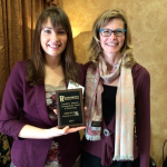 Angie Kurth is the winner of the Donald G. Patterson Undergraduate Award in Psychology. St. Thomas professor Tonia Bock accompanied her to the award ceremony in mid-April. (Photo courtesy of Angie Kurth)