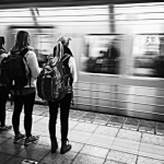 Two friends and I wait for the subway in Tokyo. Japan was the first international port of my Semester at Sea voyage. (Photo courtesy of Samantha Ratty)