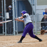 Designated hitter Brenna Walek follows through on a hit to left field. Walek is one of 15 All-Americans who will be returning for the Tommies this year. (Andrew Stafford/TommieMedia)