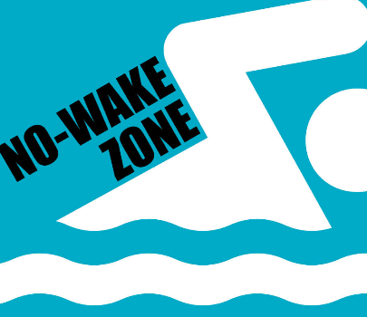 No-wake zone conditions