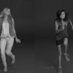 "A woman and a girl are instructed to ""run like a girl"" by a director in an Always brand commercial. Even in still images, the difference between the two reactions is apparent."