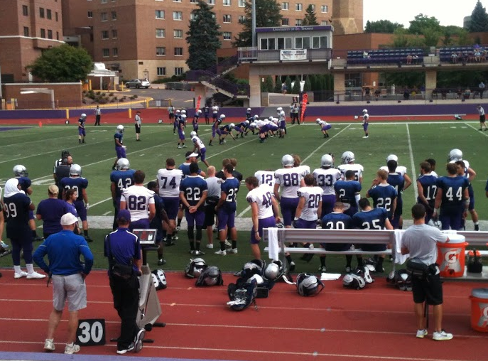 Tommies face off in intrasquad scrimmage