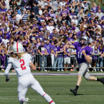 Quarterback Matt O'Connell slings a pass during the first half of last year's football game against St. John's. Coach Glenn Caruso said O'Connell is expected to start in Saturday's matchup after recovering from a lower-body injury he suffered in the game against Wisconsin-La Crosse. (Andrew Stafford/TommieMedia)