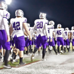 The St. Thomas football team enters Salem Stadium for the 2012 Stagg Bowl against Mt. Union. The 2015 Tommies will face Mt. Union again this year. (Rosie Murphy/Tommiemedia)