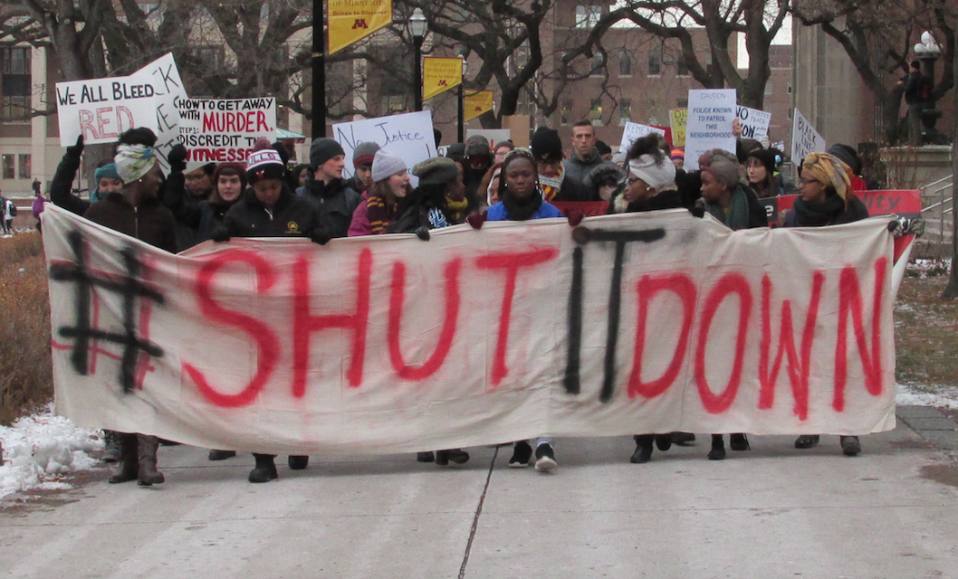 St. Thomas, U of M students protest Ferguson decision