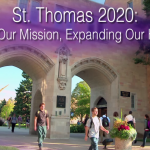"""St. Thomas president Julie Sullivan announced the news of the strategic plan approval to students, faculty and staff with email and video statements on Dec. 2. """"St. Thomas 2020: Living Our Mission, Expanding Our Horizon"""" is a five-year plan that will implement change on campus. (Photo courtesy of President Sullivan)"""