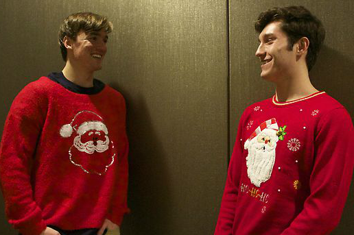 Students show off festive Christmas sweaters