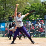 Pitcher Breezy Bannon winds up a pitch during last year's NCAA Super Regional in Naperville, Illinois. Bannon won two games for the Tommies last season and is expected to be a key part of the rotation again this season. (Jacob Sevening/TommieMedia)