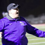 Coach Peter Mooseburger reacts to a goal in last spring's game against St. John's. Mooseburger decided to retire as lacrosse coach last summer after 12 years with the Tommies. (Rachel Murray/TommieMedia)