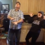 Ali Hoffman, St. Thomas '14, and her father, Michael, dance in their kitchen to Bruno Mars' song 'Uptown Funk.' Their video reached more than 10.2 million views, 78,000 likes and 230,000 shares on Facebook. (Photo courtesy of Ali Hoffman)