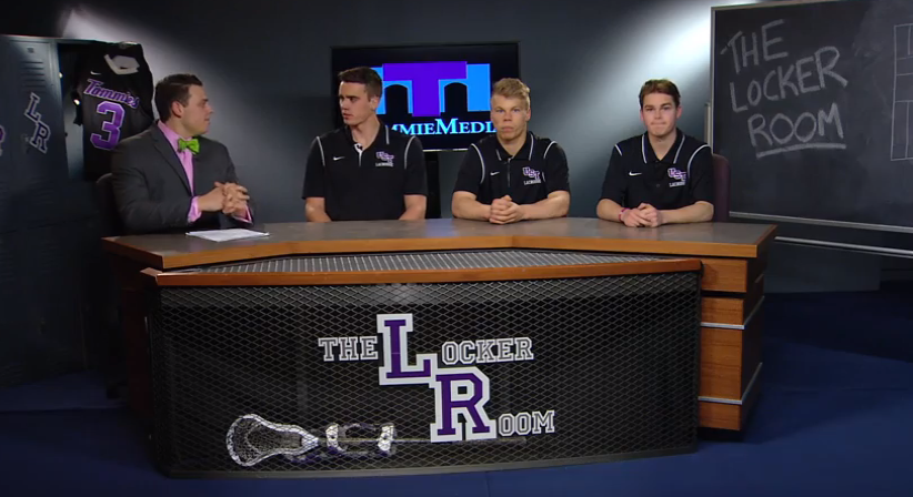 The Locker Room with men's lacrosse - April 9, 2015