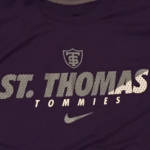 All University St. Thomas varsity sports teams will wear Nike for at least three years, beginning with the 2016-2017 academic year. Until now, the university had to find its own suppliers for sports apparel and equipment. (Taylor Smith/TommieMedia)