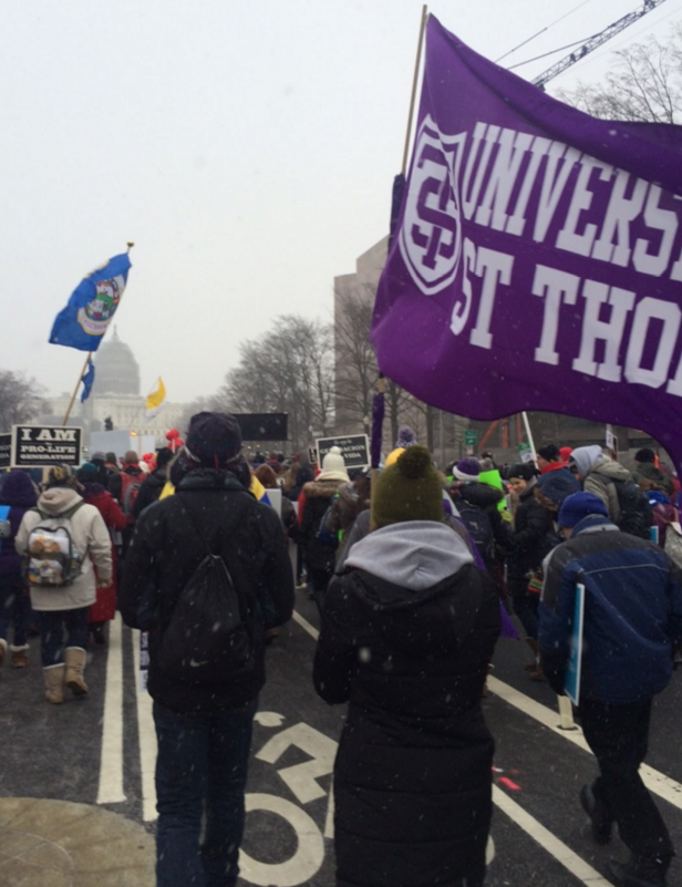 St. Thomas students stranded after March for Life
