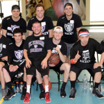 The St. Thomas Men's Hockey team represents the Tommies at the MIAC Unified basketball tournament. The Special Olympics players and MIAC athletes came together as one team. (TommieMedia/Marissa Groechel)