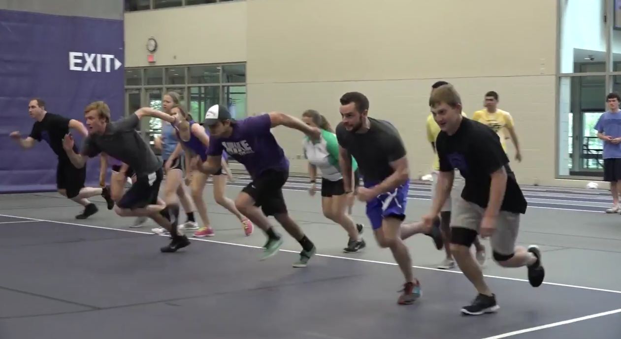 Video: Students, Public Safety officers participate in dodgeball tournament