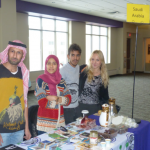 Students present the Saudi Arabian table at the International Fair during International education week. Saudi Arabia is currently the most-represented country in the international student body at St. Thomas, but that may soon change due to potential budget cuts in the country's government. (Photo credit: Office of International Students and Scholars).