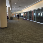 This second floor walkway of the Anderson Student Center has been named Campus Way since the building opened in 2012.  Undergraduate Student Government has since approved of changing the name to Dorsey Way after John Henry Dorsey. (Taylor Smith/TommieMedia)