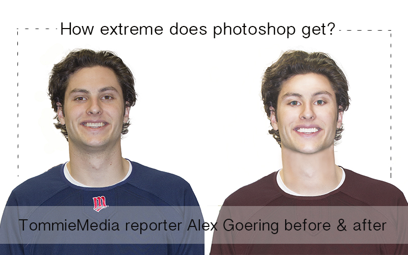 Opinions editor Carly Samuelson used the same photoshop software as many high fashion publications to manipulate a photograph of Alex Goering. The extreme alterations illustrate just how powerful editing can be