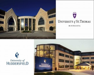 St. Thomas will begin an international partnership with England's University of Huddersfield. The schools will likely collaborate on projects, grants or research.