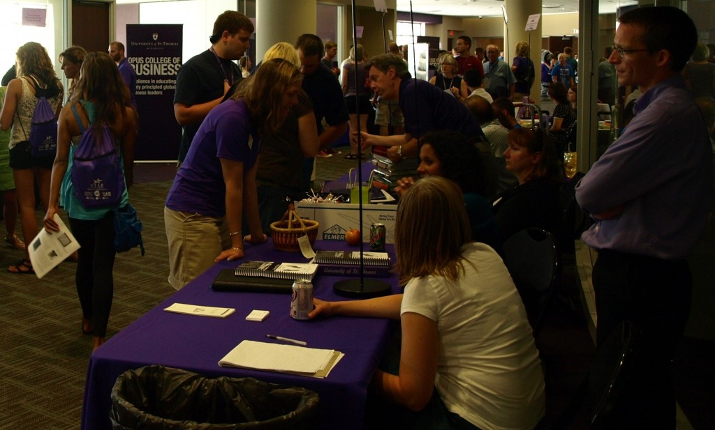 <p>During orientation, students made use of Campus Way, where they had the opportunity to ask different departments and clubs more information about how to get involved. (Caroline Rode/TommieMedia)</p>