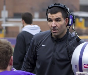 <p>St. Thomas coach Glenn Caruso has won the Liberty Mutual Coach of the Year award the past two seasons. In Caruso's time at St. Thomas, his teams have complied a 56-7 record. (Alex Goering/TommieMedia)</p>