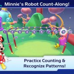 Games like Minnie's Robot Count-Along teach basic counting and matching to preschoolers. St. Thomas engineering professor AnnMarie Thomas is an adviser for a new Imagicademy app, and her  daughter Grace was one of the Beta testers for the app. (Apple App Store)