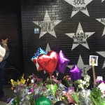 Prince fans paid tribute to the music icon by leaving flowers and balloons at a memorial at First Avenue. The Minnesota performer was found dead in his Chanhassen home Thursday. (Photo credit: Pam Adams)